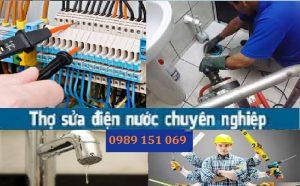 sửa chữa điện nước tại quận Long Biên
