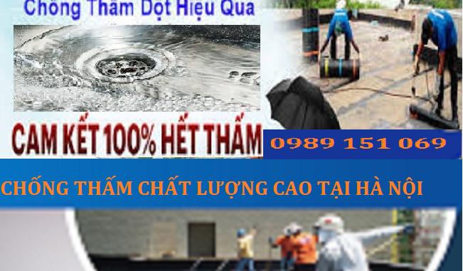 chống thấm dột tại quận Hà Đông