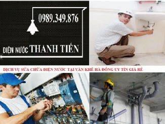 sửa chữa điện nước tại văn khê