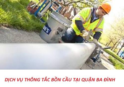 thông tắc bồn cầu tại quận Ba Đình